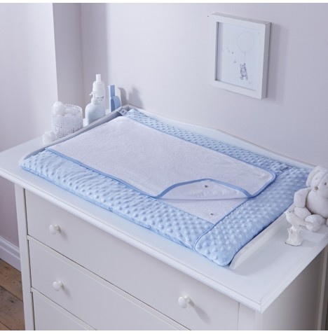 Clair De Lune Luxury Changing Mat - Dimple Blue